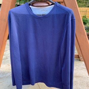 EUC dark blue Orvis brand men's longsleeve shirt